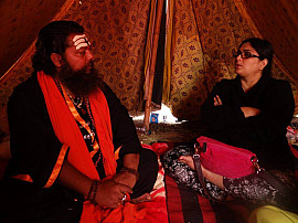 At Allahbad Kumbh with Kapali Baba
