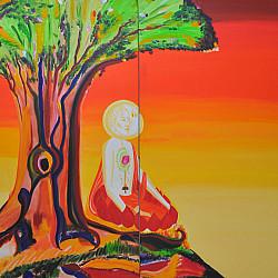 Buddha under Bodhi tree