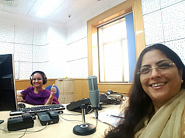 On a programme on All Indi Radio, sharing about the holy temple city Thiruvannamalai