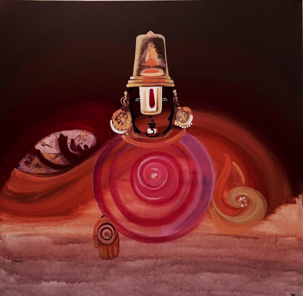 "Balaji 1, 36"" x 36"", Acrylic on Canvas - SOLD"