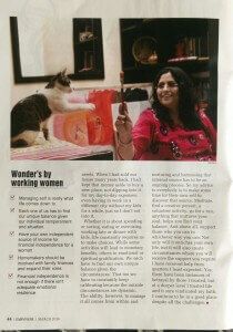 Article in Empower- woman's special by Outlook